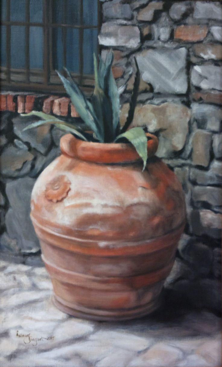 Orange Urn,    oil on linen