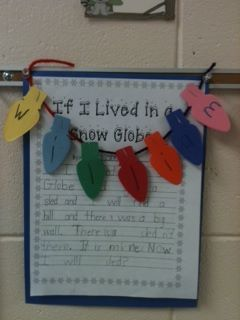 """writing activity after reading """"The Snow Globe Family"""""""