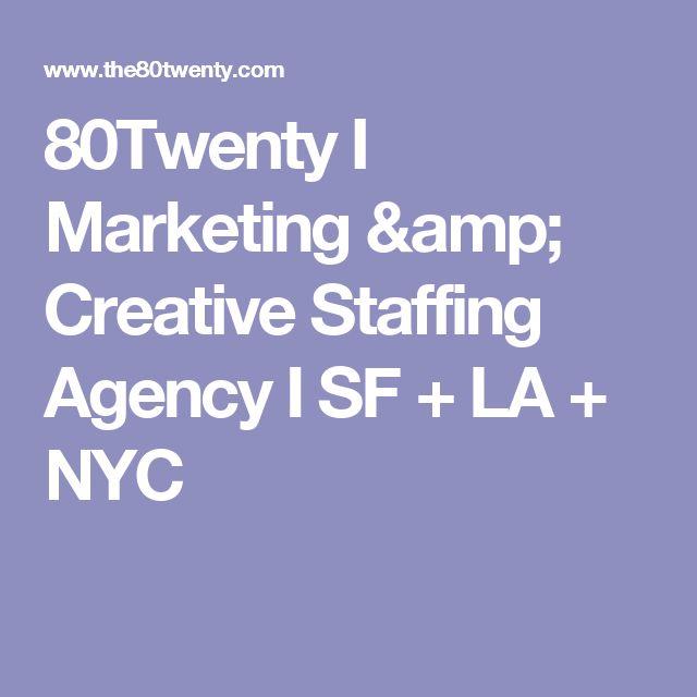 80Twenty I Marketing \ Creative Staffing Agency I SF + LA + NYC - aerotek recruiter sample resume