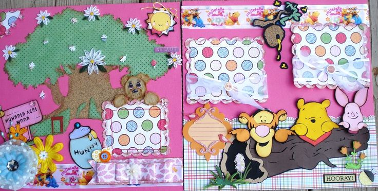 Two page layout with Winnie the Pooh and Tigger too.
