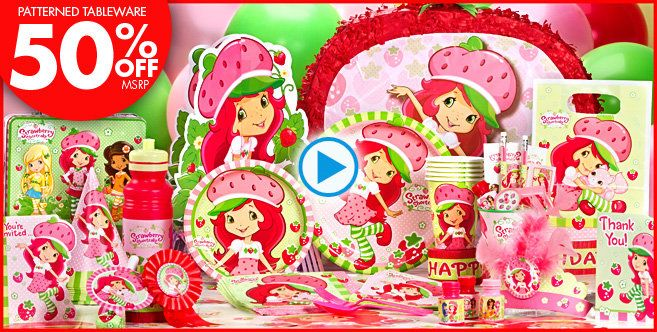 Strawberry Shortcake Party Supplies - Strawberry Shortcake Birthday