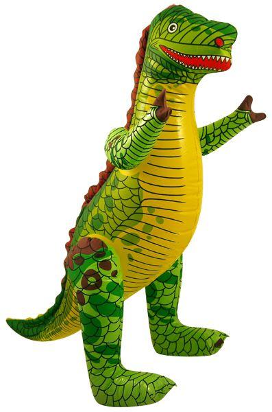 Inflatable Dinosaur - 76cm. Ideas for Dinosaur themed birthday party. Dinosaur decorations, dinosaur party tableware, dinosaur party games, dinosaur party bags, dinosaur fancy dress and dinosaur toys