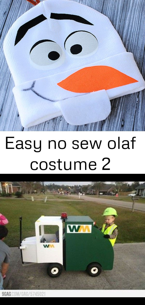 No Sew Olaf Costume Halloween costume ideas for babies in