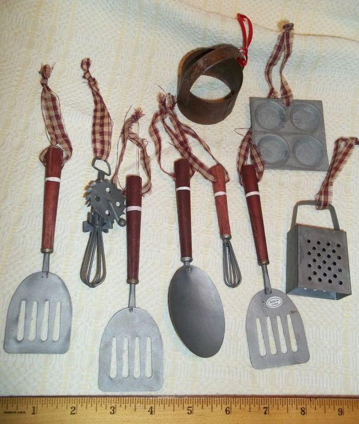 Lotof 9 Rustic Primitive Country Kitchen Utensils