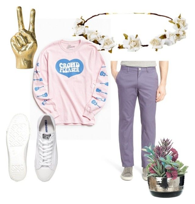 """""""cute boy💞"""" by anastasiastoupa on Polyvore featuring Bonobos, Urban Outfitters, Converse and Cult Gaia"""
