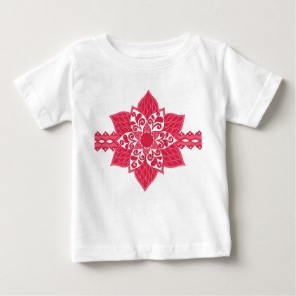 #Red Flower Girl Tee - customize unique idea