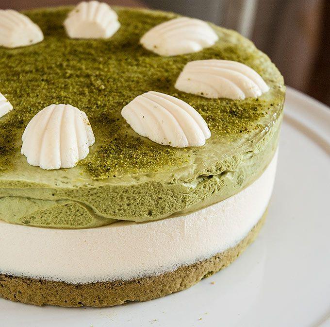 tarta de mascarpone y te matcha, by Invitado do invierno