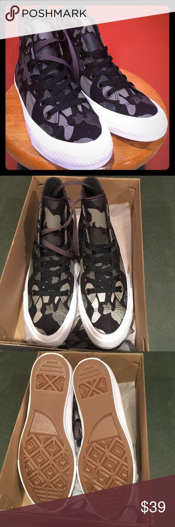 💕Quick Sale💕CONVERSE Unisex CT Reflective camo Last one each size.                                  Converse Unisex CT All Star II Reflective Camo Hi Top Sneaker Brand New in a box WM size 8. M 6/ WM 7. M 5 Model Number: 151157C Converse Shoes Sneakers