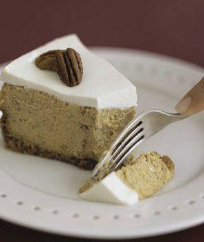 Bourbon Pumpkin Cheesecake from Epicurious. http://punchfork.com/recipe/Bourbon-Pumpkin-Cheesecake-Epicurious