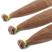 Remy Hair Hand Made Weft Blonde Color Natural Stra…