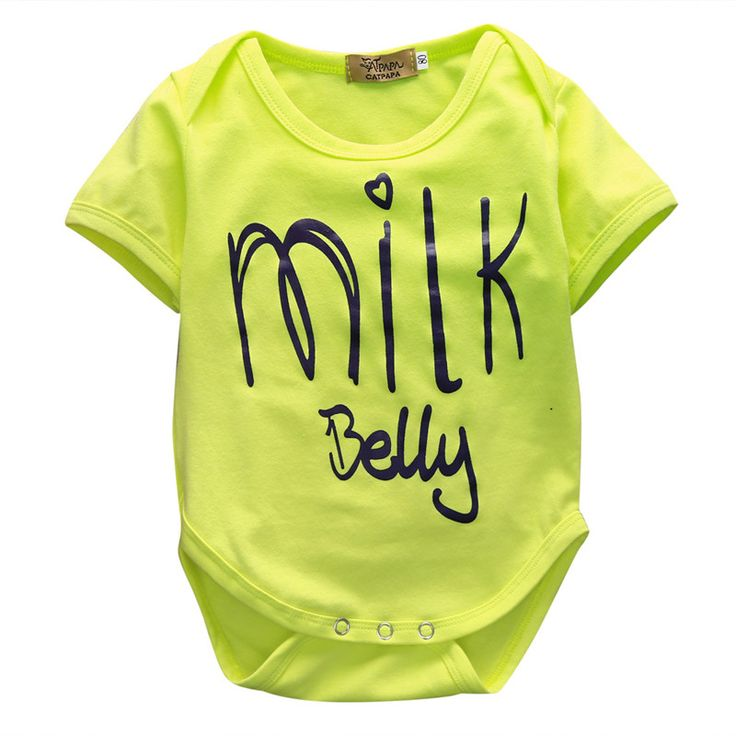 >> Click to Buy << Infant Baby Milk Bodysuits,Newborn Kids Boys Girls Yellow Short Sleeve Bodysuit,Babies Jumpsuit Playsuit Letter Printed Outfits  #Affiliate