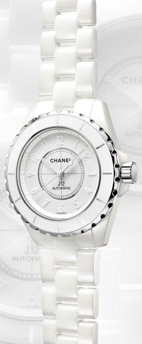 Chanel watch in white - perfect tone for #summer! ...