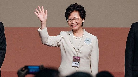 Hong Kong elects its first female leader and makes her the butt of a rude joke