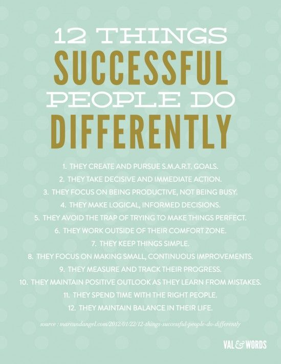 12 steps to success!