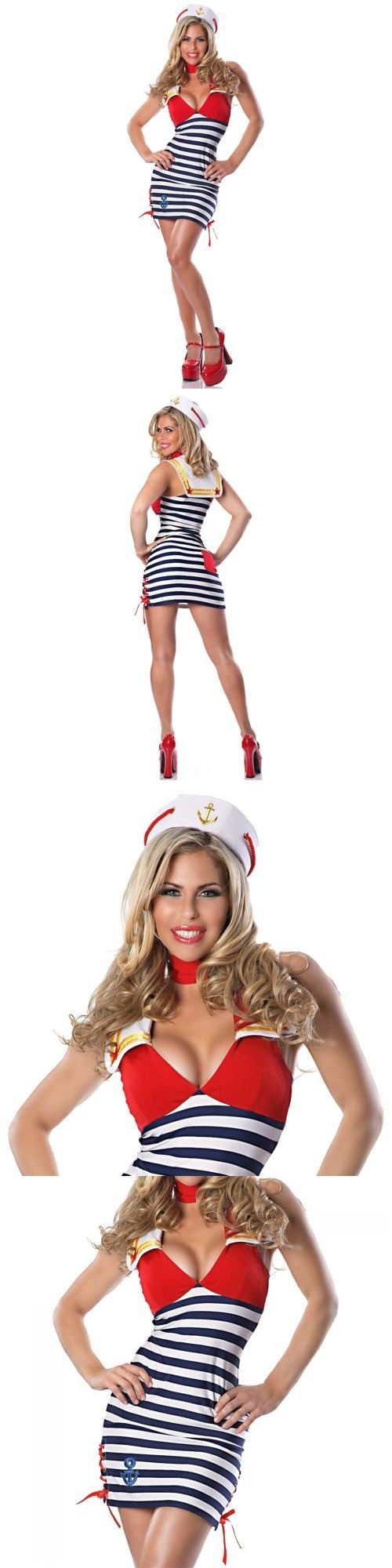 Halloween Costumes Women: Sailor Costume Adult Pin Up Girl Halloween Fancy Dress BUY IT NOW ONLY: $40.69