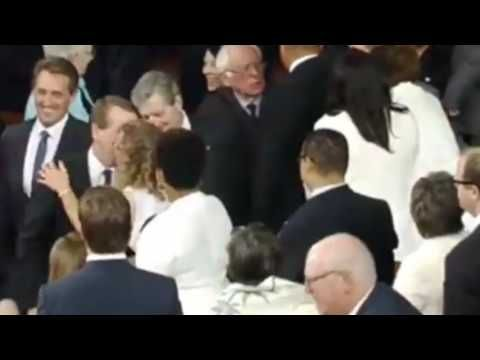 WATCH: Bernie Sanders Snubs Debbie Wasserman Schultz At Trump Speech | The Sean Hannity Show