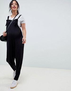 158fceac6 Mono largo estilo peto de punto de ASOS DESIGN Maternity