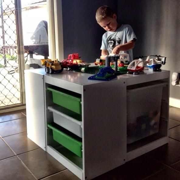 40 Awesome Lego Storage Ideas @Christina Childress Childress Childress Childress Boyd ...perhaps there's something on here that can be utilized in the lego room?