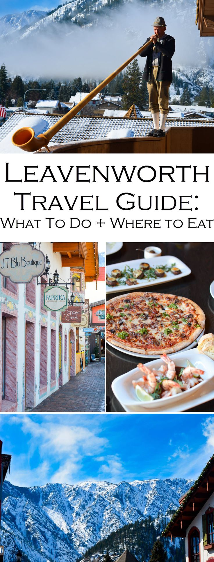 Leavenworth, Washington is a year round, must-visit destination. See all the fun and food and get the insider scoop on this cue Bavarian town!