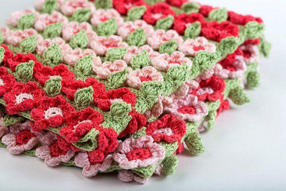 Manta de ganchillo patrón Rose Field  archivo Digital por YarnTwist