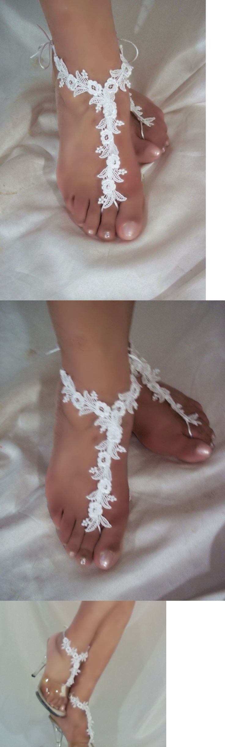 Other Wholesale Body Jewelry 51011: Wholesale Barefoot Sandals, 10 Pairs, Beach Sandals, Beach Bride Sandals, Anklet -> BUY IT NOW ONLY: $89 on eBay!