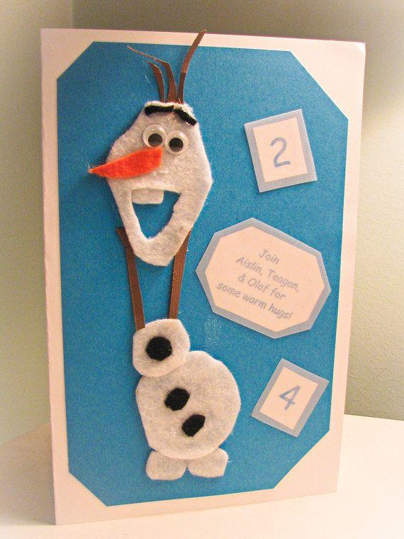 Handmade Felt and Cardstock Olaf the Snowman by HazelandtheBrie, $3.00