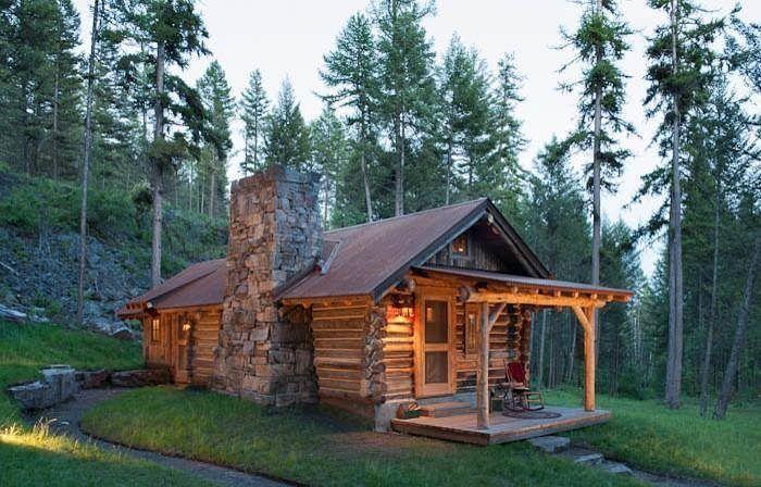 "logcabinbureau: ""Private historic cabin designed by Montana Creative architecture + design of Whitefish, MT. http://ift.tt/2uFIklc """