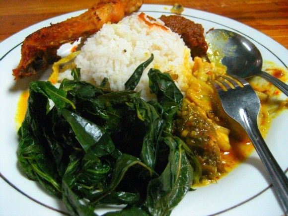 """This is called """"masakan padang"""" or Padang cuisine, originated from west sumatra. Dishes from this area are mostly cooked in hot spicy coconut milk. Sooooooo Yummyyyy!"""