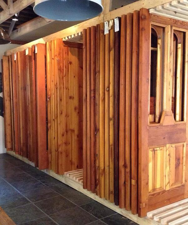 Our retail door display - easy to show as the doors slide.  Fitting over 200 doors in to a very small space.