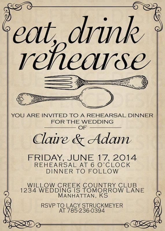 graphic about Printable Rehearsal Dinner Invitations identify Printable Rehearsal meal invitation template, marriage