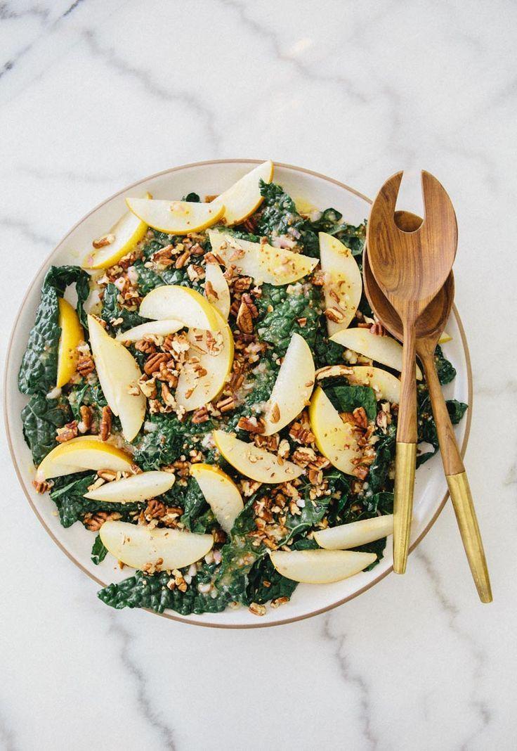 Kale Asian Pear Salad / salade de chou frisé et poires