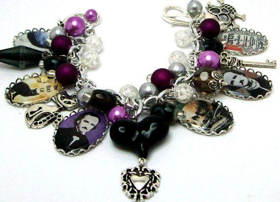 Edgar Allen Poe Charm Bracelet.