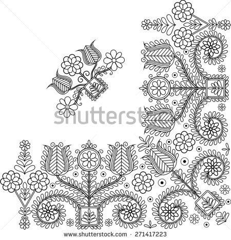 Beautiful folk art motif himzes mintak pinterest folk art folk and hungarian embroidery - Beautiful romanian folk motifs ...