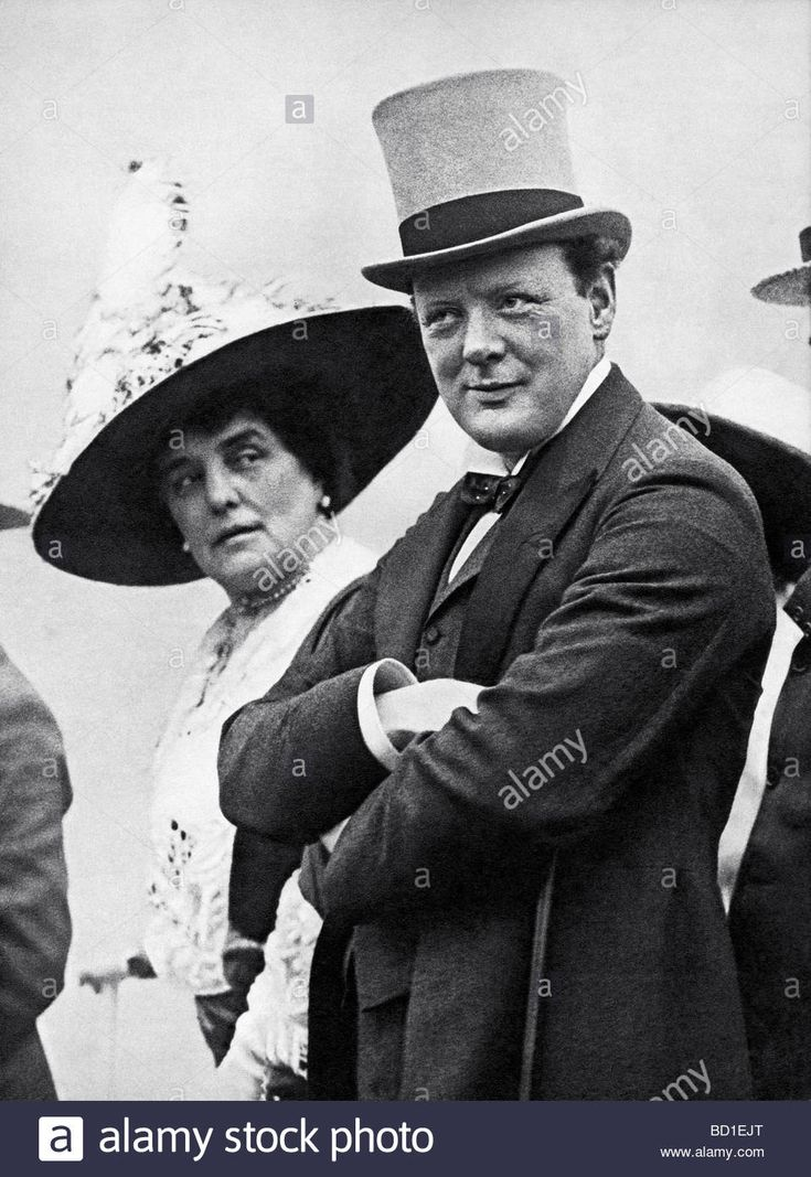 Winston Churchill and his mother Lady Randolph Churchill