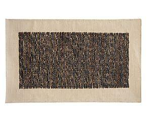 Tappeto in cuoio e cotone Geo canapa/naturale - 300x200 cm