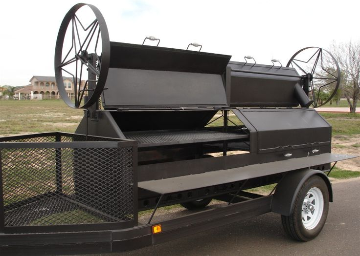 portable GRILL | Portable BBQ grill with Texas wagon wheels. Cooking grate cranks up ...