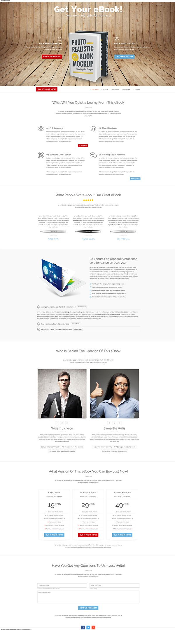 eBook Landing Page for selling eBooks - webdesign for ebooks , clean layout  http://themeforest.net/item/ebook-landing-page-clean-and-responsive/10001933?ref=quomodo