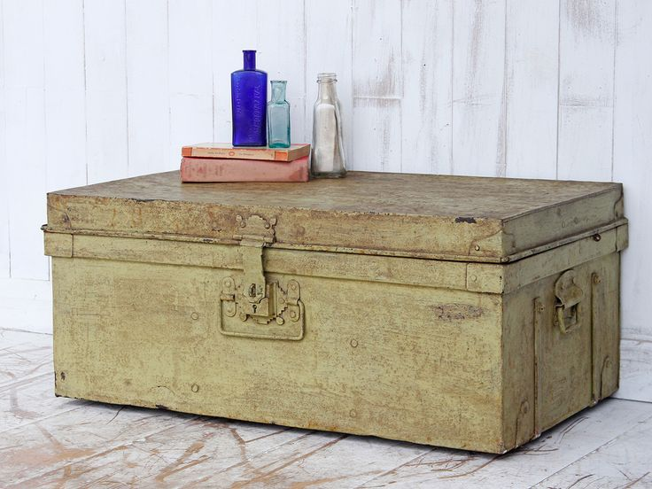 Metal Trunk from Scaramanga's vintage furniture and interior collection #vintage #storage #interior #homeinspo #inspiration #ideas #homedecorideas #trunk #chest