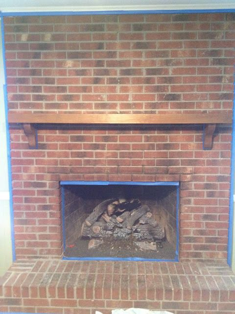 5 DRAMATIC brick fireplace makeovers | DIY My Homes. I would love to redo our fireplace (it looks like this pic) if I could convince my husband to get the decor out of the 70's. The difference in these fireplace makeovers are amazing.