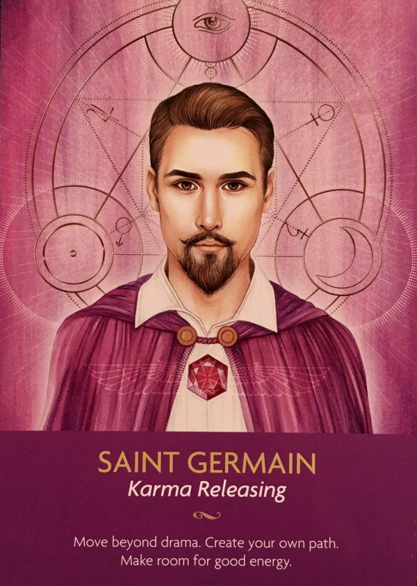 SAINT GERMAIN PUBLISHED MARCH 11, 2017 BY DEE ~ ARCHANGEL ORACLE Daily Angel Oracle Card: Saint Germain, from the Keepers Of The Light Oracle Card deck, by Kyle Gray, artwork by Lily Moses Saint Ge…