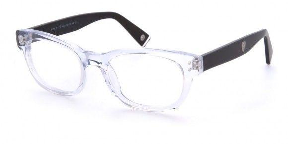 Foncité Rubik Clear Black - Mens Prescription Glasses