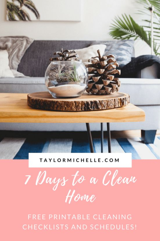 Creating a cleaning schedule is a great way to commit to keeping your house clean. Find cleaning schedules for every room in your home (or learn how to create your own!) at TaylorMichelle.com.