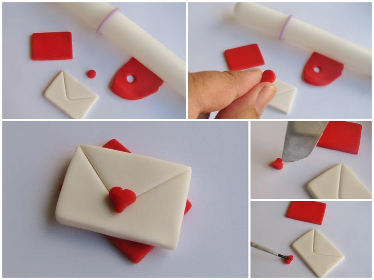 Step by Step Fimo/ Polymer Clay tutorial - How to make Love Letter earrings