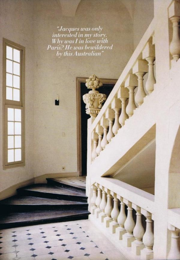Australian Nikki Parkeru0027s Paris Apartment In The Place Des Vosges,  Decorated By Jacques Grangeu2026A Carved Limestone Staircase Leads Up To The  First Floor ...