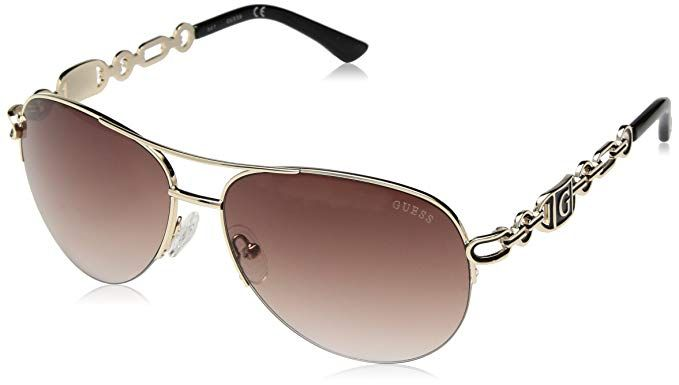 GUESS Factory Women's Chain Aviator Sunglasses | Aviator