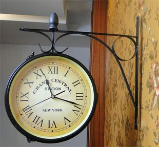 Cast Iron Indoor/Outdoor Wall Clock, Wall Decor, Home decor Clock, Wall Mounted Hanging Garden Metal iron craft, Free shipping-in Wall Clocks from Home & Garden on Aliexpress.com