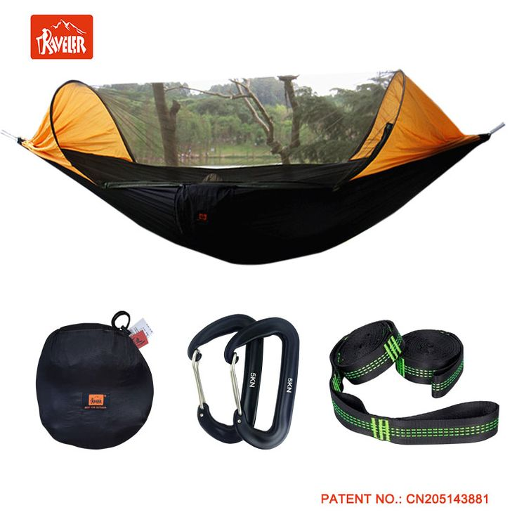Patent Outdoor Camping Hammock with Mosquito Net and hammock bug net with Rainfly Cover