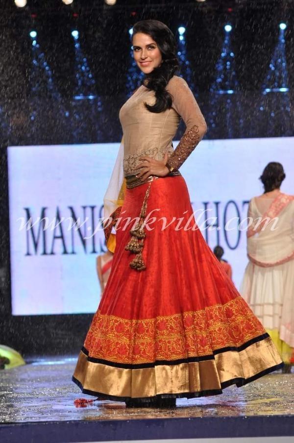 Juhi Chawla and Neha Dhupia at CPAA fashion show