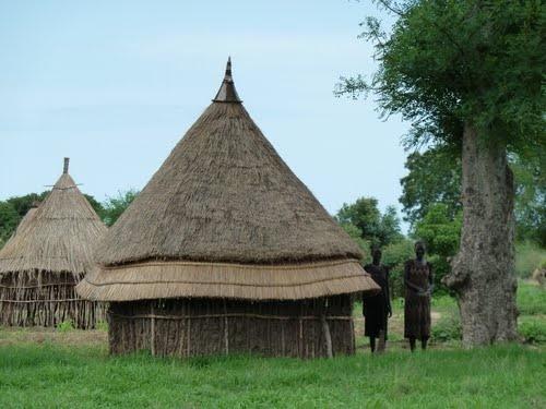 Handmade traditional house in Gambela and Western Oromia. Cushitic, Oromia, Gambela, Sudan, Africa