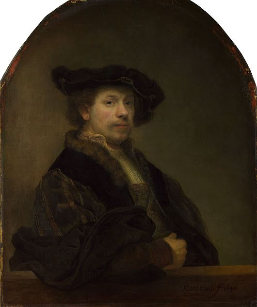 Rembrandt was born #OnThisDay in 1606. This self portrait shows Rembrandt at ...